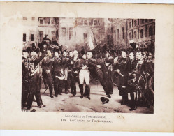 NAPOLEON BONAPARTE ADIEUX A FONTAINEBLEAU CARTE DE 1895 GRAND FORMA 16,5 X 12 CM - Personnages Historiques