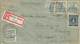 SBZ Einschreibe Beleg  1946 MiF Mecklenbur + Ziffer  Marlow-Oldenburg - Sowjetische Zone (SBZ)