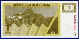 SLOVENIE SLOVENIJA - 1 BILLET 1 TOLAR NEUF PAPIER MONNAIE EUROPE BANQUE 1990 N° AB 90970499 - Slovénie