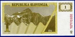 SLOVENIE SLOVENIJA - 1 BILLET 1 TOLAR NEUF PAPIER MONNAIE EUROPE BANQUE 1990 N° AB 90970500 - Slovénie