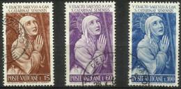 Vatican - 1962 St Catherine Of Siena Set Of 3 Used  SG 379-81  Sc 335-7 - Oblitérés