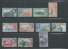 Barbados 1953 QEII Definitives Short Set Of 11 To 60c Used - Barbados (1966-...)