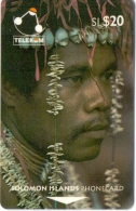 SOLOMON ISL.(GPT)  MAN OF SANTA ANA ISLAND(NO LETTER ON BACK)  20$   CN:02SDB-USED(K) - Isole Salomon