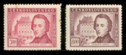 CZECHOSLOVAKIA 1949 MNH** - F. Chopin - Mi 581-2 - Neufs
