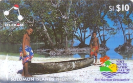 SOLOMON ISL.(GPT)  CANOE FROM SIKAIANA(WITH LOGO)  10$   CN:03SIC-USED(K)