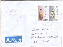GOOD BELGIUM Postal Cover To ESTONIA 2014 - Good Stamped: Ceramic - Belgium