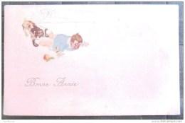 Litho Illustrateur Milano 4331 Bertiglia Style Garcon Tombé Dans Neige Chien Mordant Culotte Pomme Ecrite 1921 - Other Illustrators