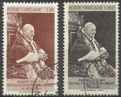 Vatican - 1963 Balzan Peace Prize Set Of 2 Used  SG 404-5  Sc 360-1 - Oblitérés