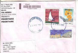 GOOD BRAZIL Postal Cover To ESTONIA 2014 - Good Stamped: Ship / Music ; Flowers ; Luciomar - Brazil