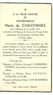 Hannut Merdorp Maria  De Chentinnes 1881 1956 - Hannuit