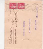 Cholet 1940 - Flamme à Vagues Sur Paix - Chaussures Myrtili - Postmark Collection (Covers)