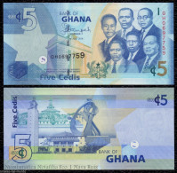 GHANA 5 CEDIS 2014 PICK 38e NEW SIGN SC UNC - Ghana