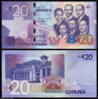 GHANA 20 CEDIS 2014 PICK 40e NEW SIGN SC UNC - Ghana