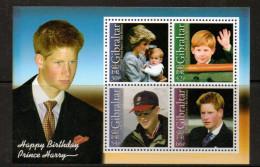 GIBRALTAR 2002 - 18e Ann Du Prince Harry, Lady Diana - BF Neufs // Mnh - Gibraltar