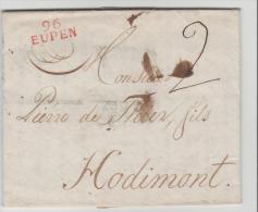 BEM005/ 96 EUPEN (1806) Komplett Mit Textinhalt - 1794-1814 (French Period)
