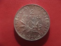 2 francs 1920 Semeuse 2524