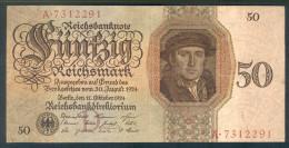 Deutschland, Germany - 50 Mark, Reichsbanknote, Ro. 170 A ,  ( Serie D/A  ) 1924 ! - 1933-1945: Drittes Reich