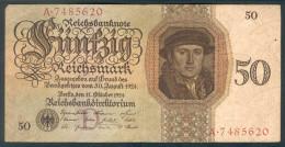 Deutschland, Germany - 50 Mark, Reichsbanknote, Ro. 170 A ,  ( Serie D/A  ) 1924 ! - 50 Reichsmark