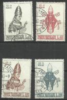 Vatican - 1963 Pope Paul VI Coronation Set Of 4 Used  SG 409-12  Sc 365-8 - Oblitérés