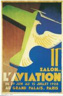 Avion Avions 11me SALON De L´AVIATION Du 29 Juin Au 15 Juillet 1928-Mini Affiche Coll.Devambez Illustration Valerio - Affiches