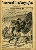 323 < JOURNAL Des VOYAGES - BORNEO  COUPEURS De TETES + ZOUAVE  MALAKOFF + TRAIN 1801 à 1901 - DAYAK SEINS NUS NU