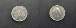 1990 - 5 PENCE GRANDE-BRETAGNE - ANGLETERRE - GREAT BRITAIN - ENGLAND - 5 Pence & 5 New Pence