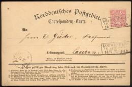 NDP/Preußen,Karte(NDP Nr.16) Loewenberg(Schlesien)-Laubahn, + Württemberg 2, Pracht - Preussen