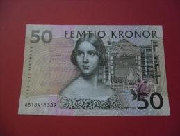 SWEDEN 50K 1996 (XF) S/N 6510411389 - Svezia