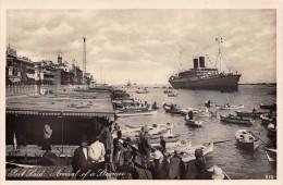 ¤¤   -  Carte-Photo   -   PORT-SAID   -  Arrivée D'un Paquebot   -  Arrival Of A Steamer    -  ¤¤ - Cairo