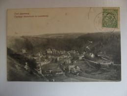 MARCOPHILIE Sur CPA LUXEMBOURG Timbre Vert 5c CLERVAUX 1909 - 1907-24 Ecusson
