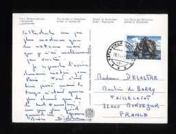 - ISLANDE 1990/99 . AFFRANCHISSEMENT SIMPLE  SUR CP DE 1990 POUR LA FRANCE . - 1944-... Republique