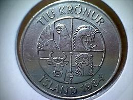 Island 10 Kronur 1984 - Iceland
