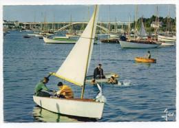 LA TRINITE SUR MER--Le Pont De Kerisper--1er Plan Animé--voile-bateaux,cpsm 15 X 10 N°2866 éd  JOS - La Trinite Sur Mer
