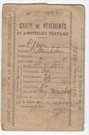 Carte De Vetements Et Articles Textiles - Cartes