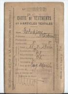 Carte De Vetements Et Articles Textiles - Maps