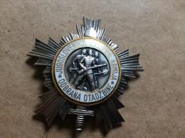 YUGOSLAVIA    Orden Narodne Armije Sa Srebrnom Zvijezdom (III. Red)           MEDAL  AWARD   1951 - Altri Paesi