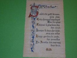 Carte Enluminé Parchemin W D écrin Charmant Dans Lequel Dieu Lui Même A Déposé Le Plus Beau Don Des Cieux - Phantasie