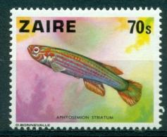 Zaïre 1978 ´ Poisson: Aphyosemion Striatum ´ COB N° 919 - Mnh*** - Fische