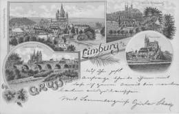 GERMANIA -  GRUSS Aus, LIMBURG,  Viagg. 1899 - APR-12-20,24,25 - Non Classificati