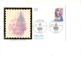 ENVELOPPE 1ER JOUR---PANTHEON 21 MAI 1981---PARIS---2 NOVEMBRE 1981 - FDC