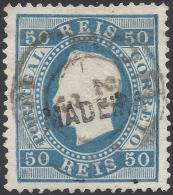 PORTUGAL MADEIRA 1871 50r BLUE Nº 23B USED - Madeira