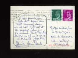- ESPAGNE 1981/90 . AFFRANCHISSEMENT COMPOSE  SUR CP DE 1982 POUR LA FRANCE . - 1931-Hoy: 2ª República - ... Juan Carlos I