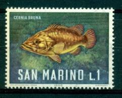 Saint-Marin (poisson: Cernia Bruna) Yt. 676 (1/10) Mnh*** - Fische