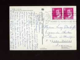 - ESPAGNE 1981/90 . AFFRANCHISSEMENT COMPOSE  SUR CP DE 1981 POUR LA FRANCE . - 1931-Hoy: 2ª República - ... Juan Carlos I