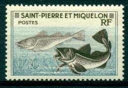 St-Pierre-et-Miquelon 1957 Yt.353 (morue) Mnh*** - Fische