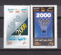 Stamps EGYPT 2000 SC-1734 1735 MILLENNIUM .MNH */* - Unused Stamps