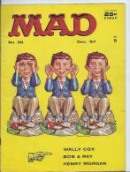 Mad Magazine Issue # 36 December 1957 25 Cts - Boeken, Tijdschriften, Stripverhalen