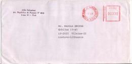 PERU Postal History Letter Brief PE 006 Meter Mark Franking Machine - Peru