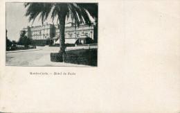 MONACO(HOTEL DE PARIS) - Hôtels