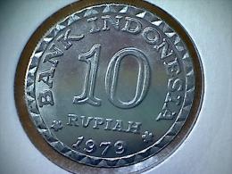 Indonesie 10 Rupiah 1979 - Indonésie